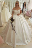 dreamy-lace-and-satin-ball-gown-wedding-dresses-off-the-shoulder-1