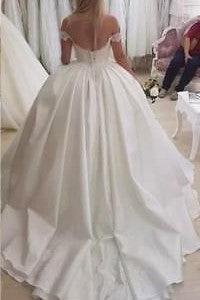 dreamy-lace-and-satin-ball-gown-wedding-dresses-off-the-shoulder-2
