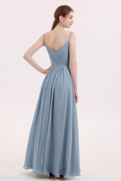 dusty-blue-bridesmaid-dresses-long-chiffon-skirt-vestido-de-la-dama-de-honor-1