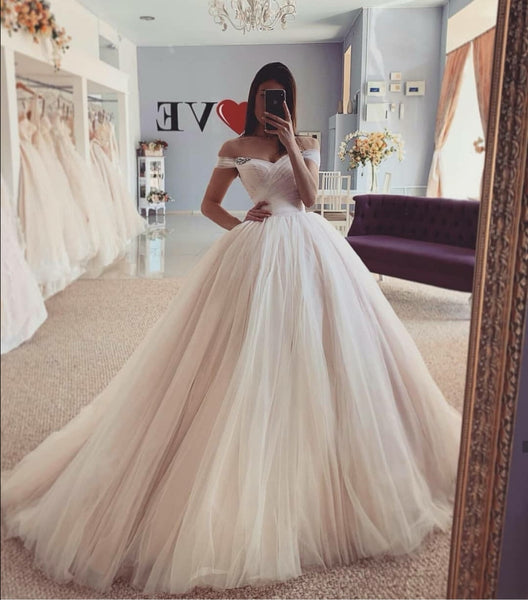 dusty-pink-tulle-skirt-wedding-dresses-off-the-shoulder-1