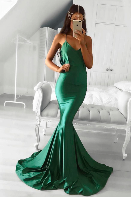 58d3f5b2eb8 Chiffon Long Prom Gown Dress V-neckline vestido de formatura. loveangeldress  Emerald Green ...