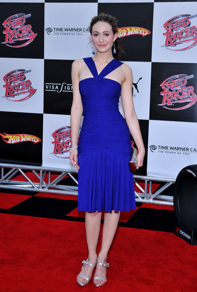 emmy-rossum-halter-straps-royal-blue-celebrity-dress-short