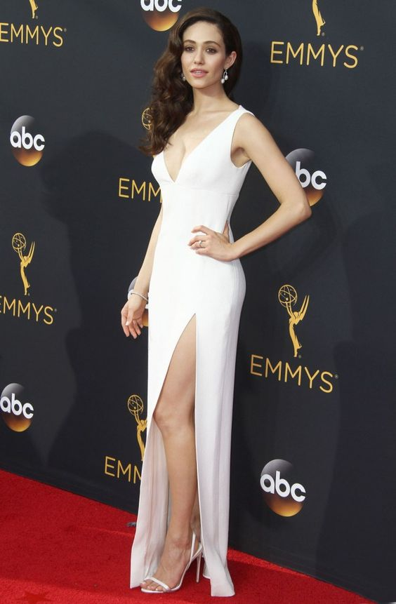 emmy-rossum-white-celebrity-dresses