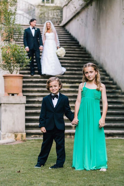 4a2217b0412 Empire Waist Chiffon Green Little Girl Wedding Guest Dresses Online –  loveangeldress