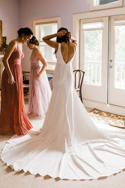 fit-flare-long-train-wedding-dress-v-neckline