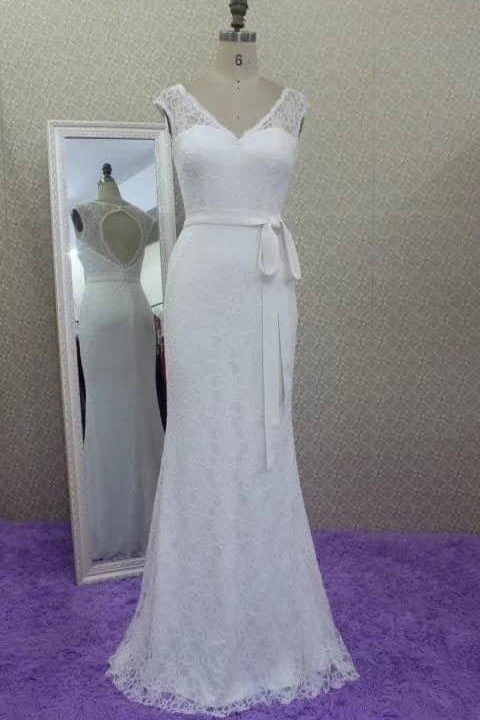fit&flare-long-lace-dress-for-wedding-bridal-gowns