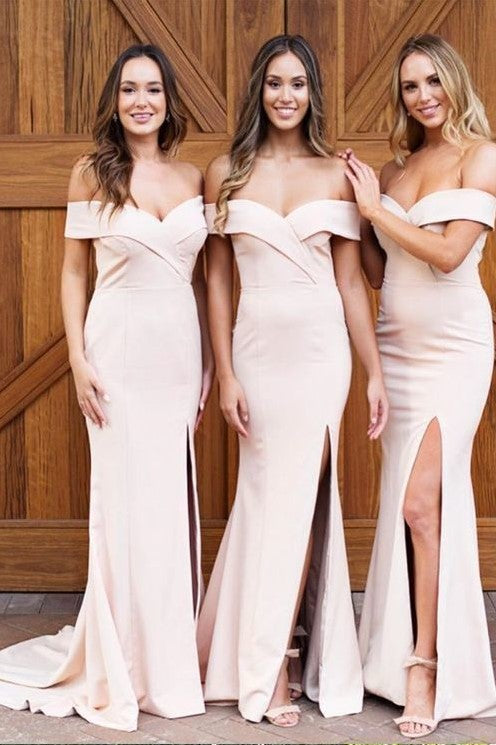 fit&flare-off-the-shoulder-bridesmaid-dresses-with-slit-side
