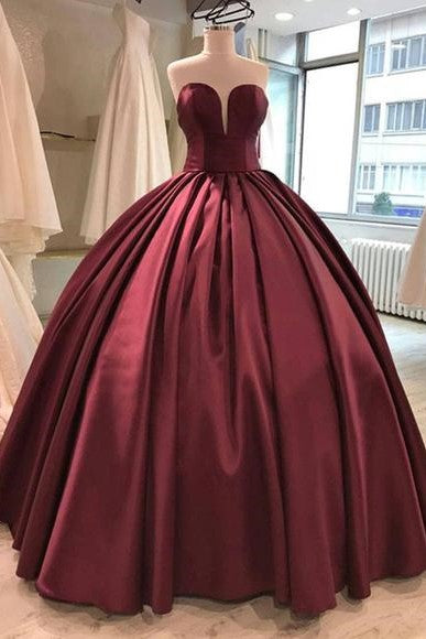 floor-length-satin-burgundy-ball-gown-evening-dresses-1