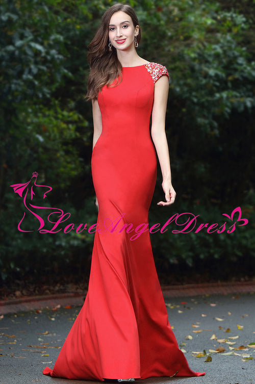 floor-length-slim-satin-red-beaded-evening-prom-dresses-cap-sleeves