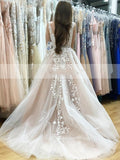 floral-lace-wedding-gowns-with-plunging-v-neckline-vestido-novia-1