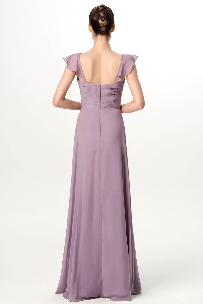 chiffon-lavender-grey-bridesmaid-dress