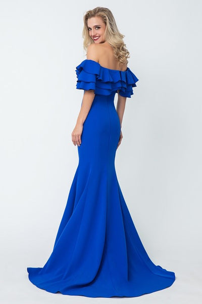 flounced-off-the-shoulder-blue-evening-dresses-with-mermaid-skirt-1