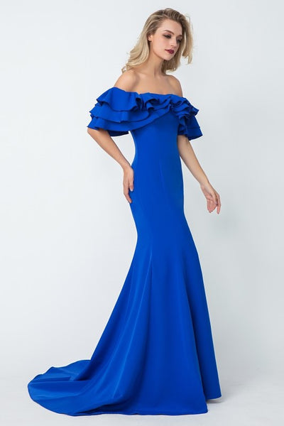 flounced-off-the-shoulder-blue-evening-dresses-with-mermaid-skirt-2