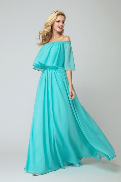 flounced-off-the-shoulder-bridesmaid-chiffon-dresses-with-side-slit-2