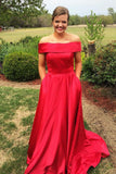 fold-off-the-shoulder-a-line-red-satin-formal-prom-gown