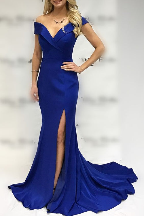 fold-plunging-off-the-shoulder-royal-blue-prom-dress-mermaid