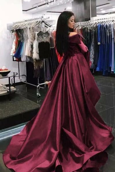 folded-off-the-shoulder-burgundy-prom-dress-with-overskirt-1