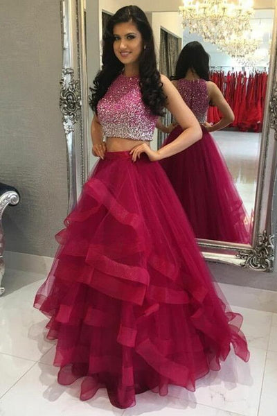 fuchsia-ruffles-two-piece-crystals-prom-dress-online