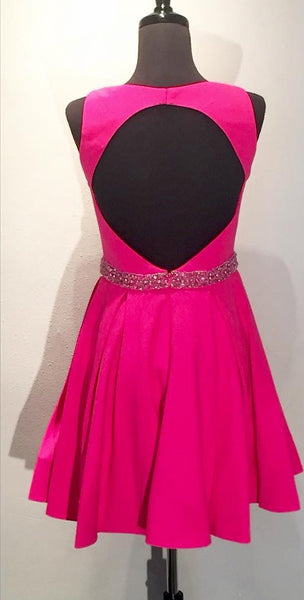 fuchsia-satin-a-line-short-homecoming-dresses-with-hollow-back-2