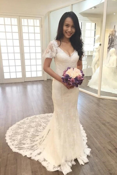 full-lace-mermaid-bridal-dress-short-sleeves