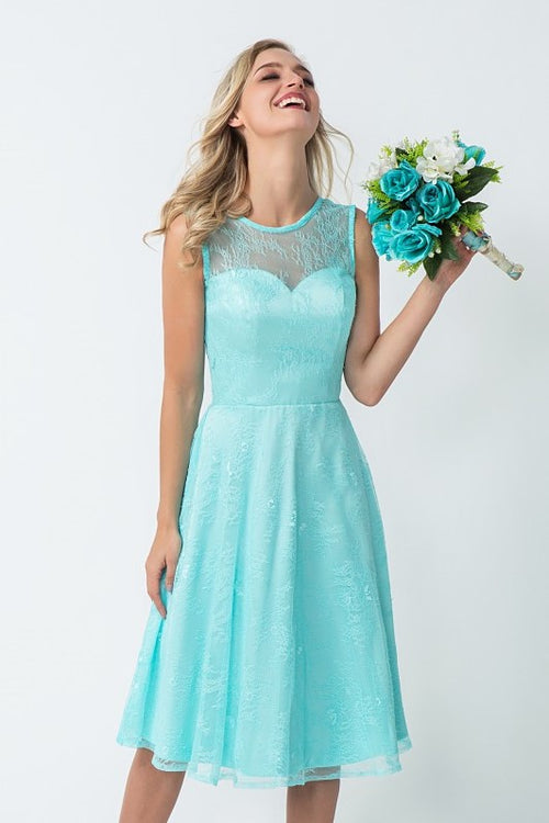 glamorous-lace-bridesmaid-dress-knee-length