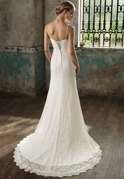 good-looking-v-neck-column-wedding-dress-lace-vestido-de-noiva-de-renda-1