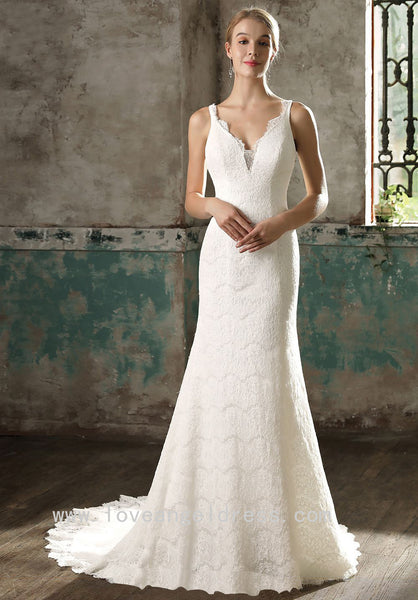 good-looking-v-neck-column-wedding-dress-lace-vestido-de-noiva-de-renda