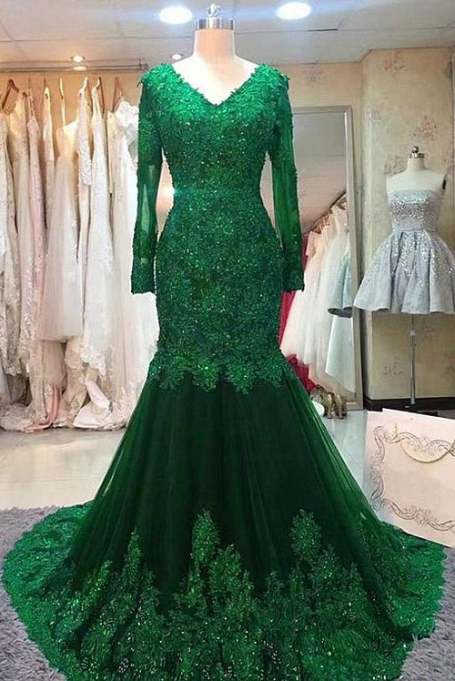 green-beaded-lace-bride-mothers-evening-gown-long-sleeve