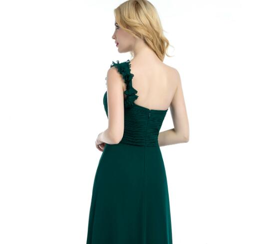 green-chiffon-one-shoulder-bridesmaid-dresses-long-1