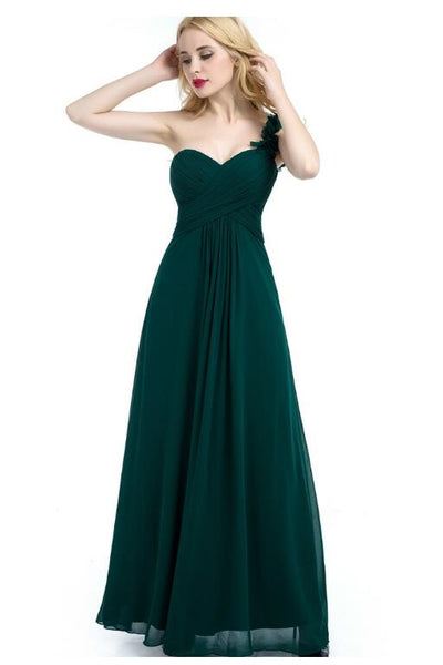 green-chiffon-one-shoulder-bridesmaid-dresses-long