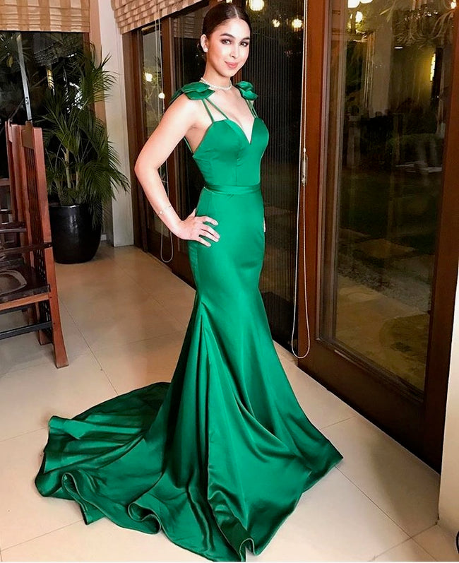green-satin-mermaid-evening-prom-dresses