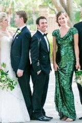green-sequin-bridesmaid-wedding-guests-dress-with-draped-neckline-2