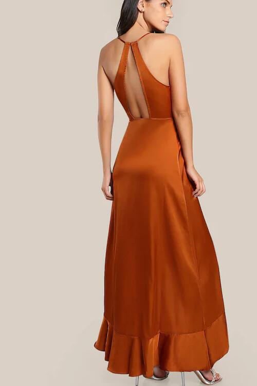 halter-burnt-orange-long-prom-dress-with-flounced-trim-1