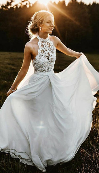 halter-lace-beach-wedding-dress-with-chiffon-skirt-1