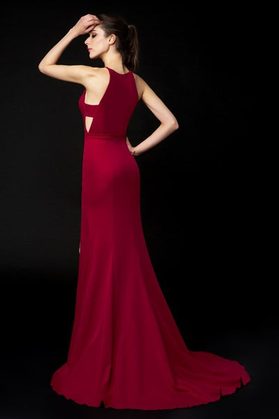 halter-neckline-burgundy-evening-dresses-side-slit-1