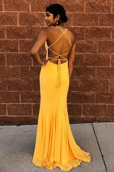 halter-neckline-yellow-prom-dress-with-lace-up-backless-1
