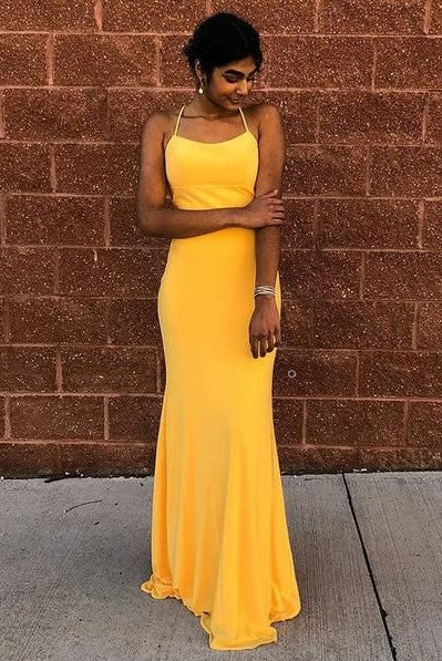 halter-neckline-yellow-prom-dress-with-lace-up-backless
