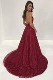 halter-plunging-v-neck-a-line-burgundy-lace-dress-for-prom-party-1