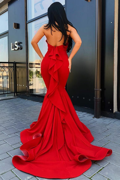 halter-red-mermaid-evening-gowns-with-ruffles-backless-1