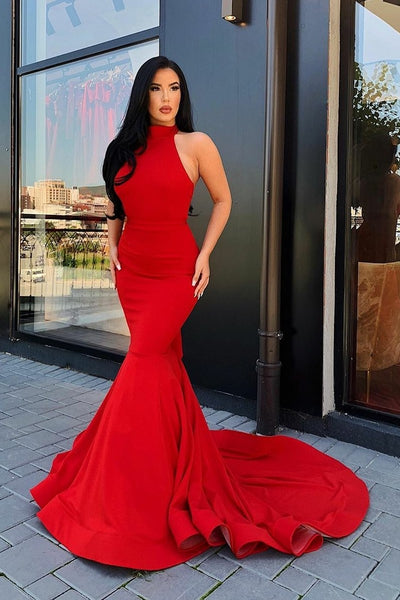 halter-red-mermaid-evening-gowns-with-ruffles-backless
