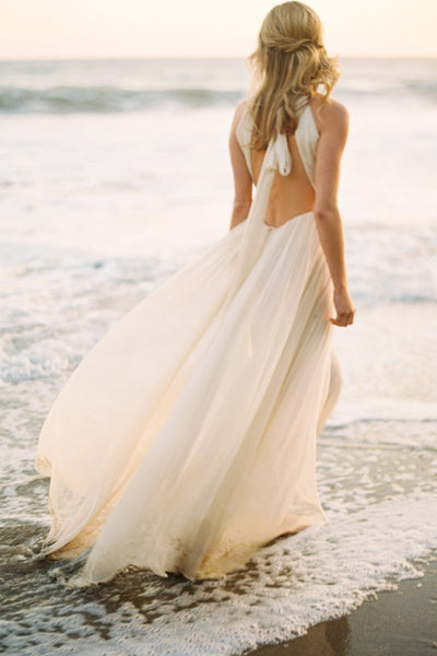 halter-strap-casual-wedding-dress-for-beach