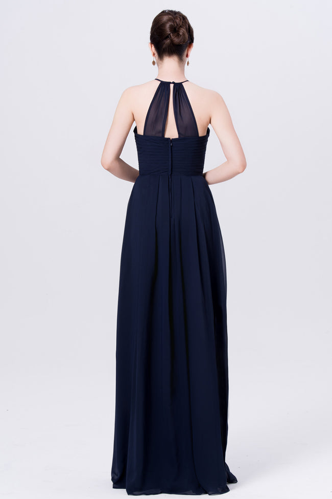 chiffon-navy-blue-bridesmaid-dresses