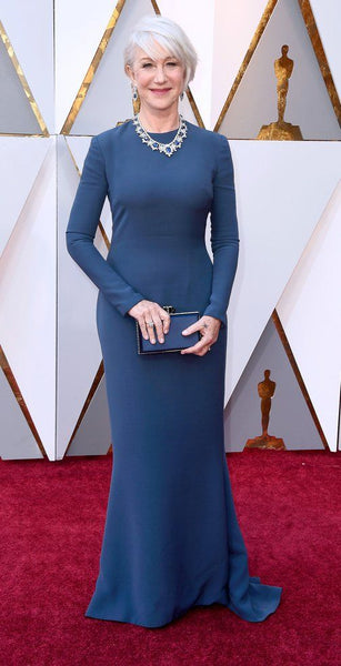 helen-mirren-blue-long-sleeves-simple-celebrity-evening-dress-1