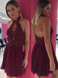 high-neck-beaded-appliques-burgundy-cocktail-dress-with-chiffon-skirt-1
