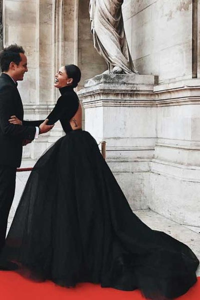 high-neck-black-ball-gown-dresses-with-long-sleeves-3
