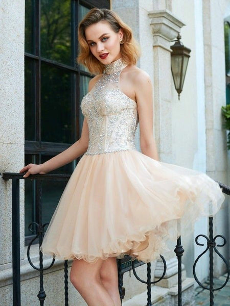 high-neck-champagne-homecoming-party-dress-with-rhinestones-bodice-1
