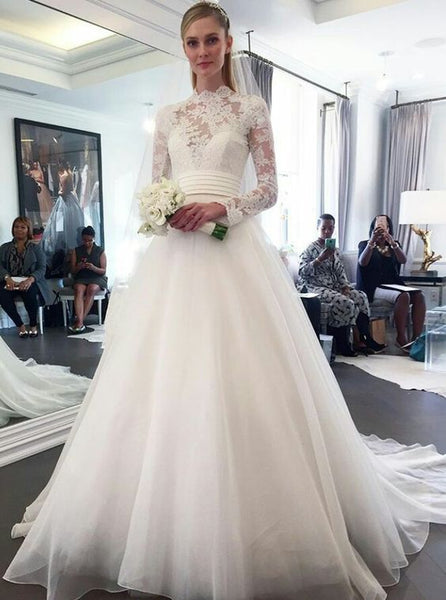 high-neck-lace-long-sleeved-modest-wedding-dresses-for-brides-1