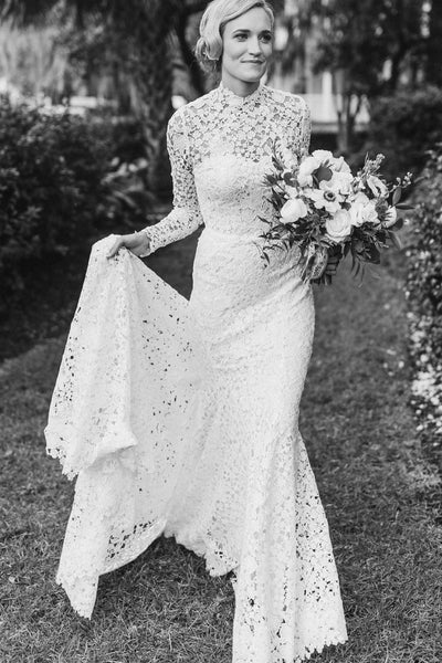 high-neck-sheath-lace-wedding-dresses-long-sleeves-2