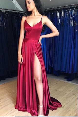 high-slit-burgundy-prrom-dresses-with-strappy-backless
