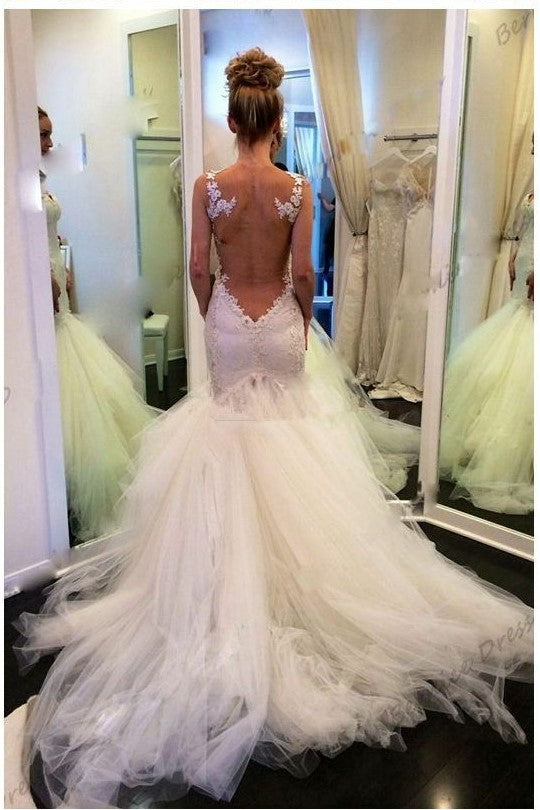 illusion-back-mermaid-wedding-dresses-with-lace-bodice-1